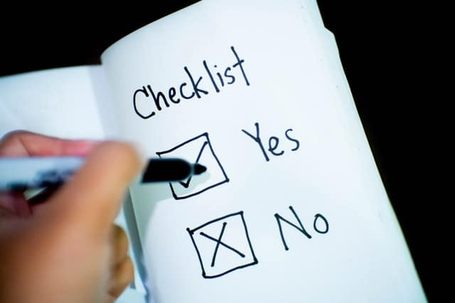 tax planning checklist