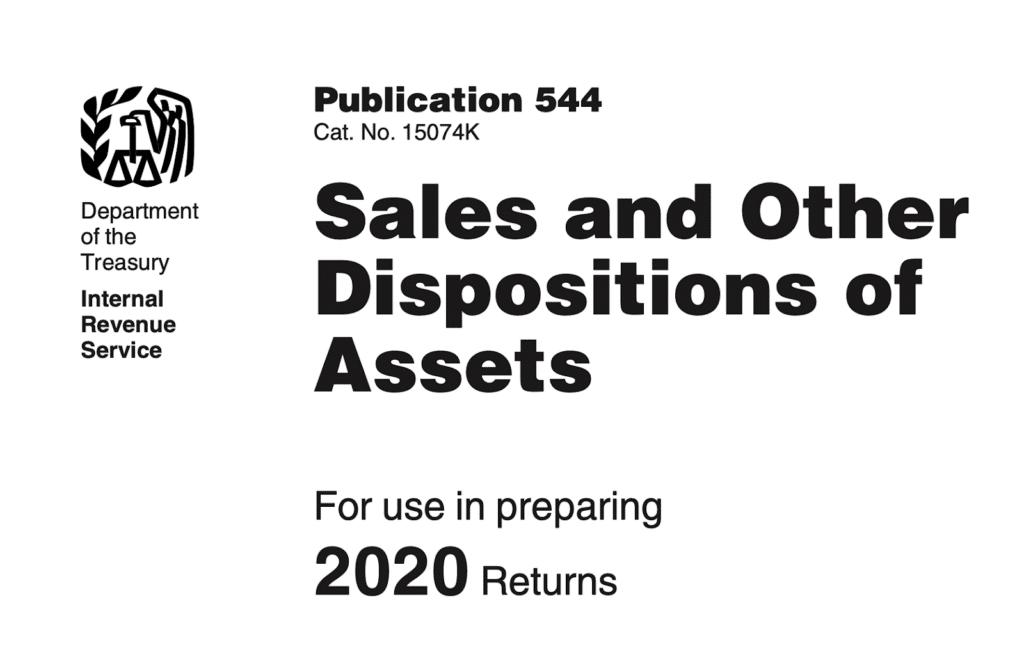 IRS Publication 544 2020
